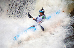 November 5, 2016 - Hendersonville, North Carolina, Women's champion, Adriene Levknecht, in the midst of the Scream Machine Rapids during the 21st annual Green Race.The Green River Narrows provides one of the most intense and extreme whitewater venues in the world and is home to many of the USA's most talented paddlers.  Green River Narrows, Hendersonville, North Carolina.