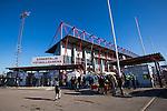 Södertälje 2013-03-31 Fotboll Allsvenskan , Syrianska FC - Kalmar FF :  .Södertälje Fotbollsarena entré huvudentré.( Foto: Kenta Jönsson ) Nyckelord:  utomhus exteriör exterior
