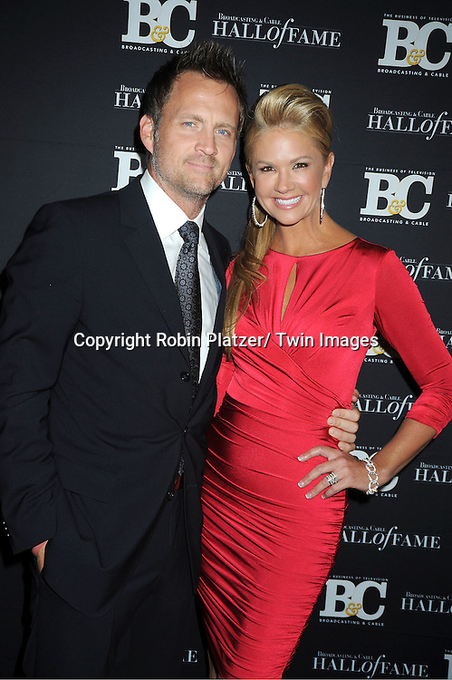 Nancy O'Dell  and husband Keith Zubulevich attend the 2011 Broadcasting & Cable Hall of Fame Awards on October 26, 2011 at the Waldorf Astoria Hotel in New York City.