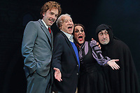 Hadley Fraser, Mel Brooks, Lesley Joseph and Ross Noble at the Young Frankenstein Photocall at the Garrick Theatre, London on October 5th 2017<br /> CAP/ROS<br /> &copy;ROS/Capital Pictures