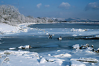 ICE&amp; WATER, FROST &amp; SNOW<br /> Ice &amp; Snow On River<br /> Hudson highlands, Haverstraw, NY