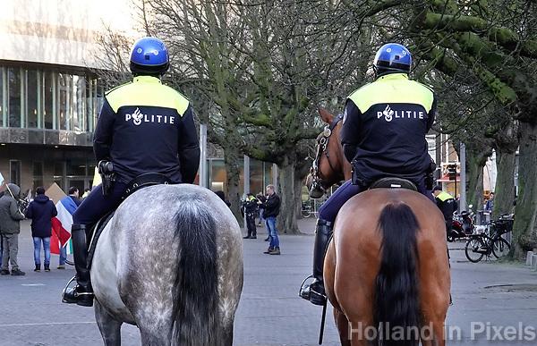 Nederland - Den Haag-  2018.  Politie te paard.   Foto Berlinda van Dam / Hollandse Hoogte