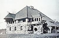 H. H. Richardson: Ames Gate Lodge, N. Easton, MA, 1880. Romanesque style.