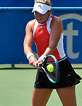 August 1,2019:   Catherine McNally (USA) battles against Christina McHale (USA)  at the Citi Open being played at Rock Creek Park Tennis Center in Washington, DC, .  ©Leslie Billman/Tennisclix/CSM