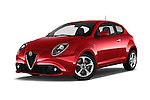 Stock pictures of low aggressive front three quarter view of 2016 Alfaromeo Mito Super 3 Door hatchback Low Aggressive