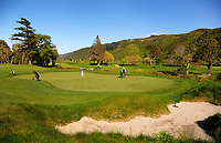 7th green. 2017 Asia-Pacific Amateur Championship Media and Partner Golf Day at Royal Wellington Golf Club in Wellington, New Zealand on Monday, 16 October 2017. Photo: Dave Lintott / lintottphoto.co.nz