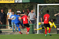 Nick Reynolds of Romfords score his teams second goal during Romford vs Coggeshall Town, Bostik League Division 1 North Football at Rookery Hill on 13th October 2018