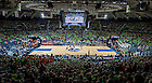 Mar 29, 2014; Tipoff of the regional semifinal game against Oklahoma State. Notre Dame won 89-72. <br /> <br /> Photo by Matt Cashore