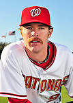 28 February 2010: Washington Nationals starting pitcher Collin Balester poses for his Spring Training photo at Space Coast Stadium in Viera, Florida. Mandatory Credit: Ed Wolfstein Photo