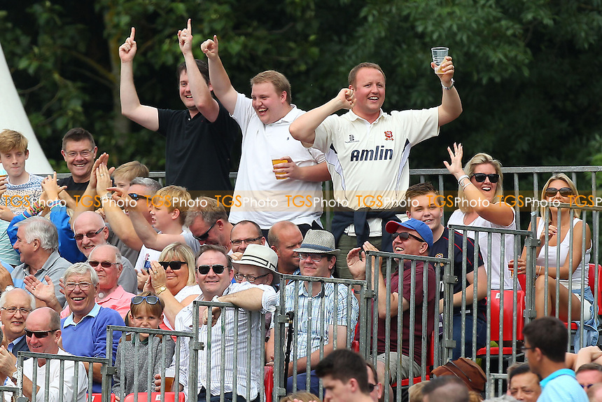 Essex fans celebrate another six runs for their team - Essex Eagles vs Kent Spitfires - NatWest T20 Blast Cricket at Castle Park, Colchester, Essex - 12/07/14 - MANDATORY CREDIT: Gavin Ellis/TGSPHOTO - Self billing applies where appropriate - contact@tgsphoto.co.uk - NO UNPAID USE