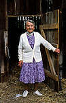 Kuslin. Elsa Fleischer stands in front of a shed on the property she and her husband had lived on many years ago. Only few things have changed.