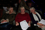 Bernie McCann Geraldine Halpin and Carmel McManus at the Arts Centre Christmas Show<br /> Picture: Fran Caffrey www.newsfile.ie