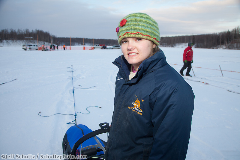 Junior Iditarod start at Knik Lake, Knik, Alaska