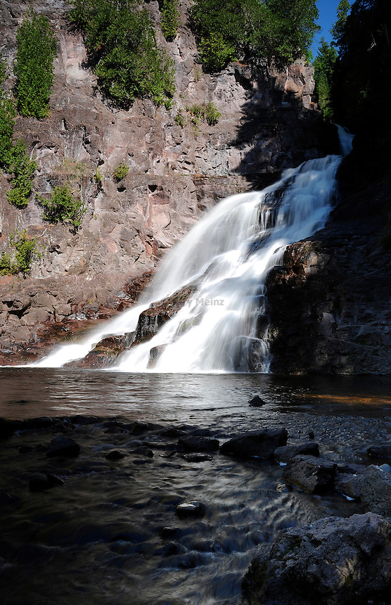 Caribou River Falls on the Superior Hiking Trail in norther Minnesota