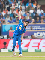 Yuzvendra Chahal (India) in action during India vs New Zealand, ICC World Cup Semi-Final Cricket at Old Trafford on 9th July 2019