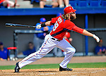 10 March 2012: Washington Nationals' outfielder Jayson Werth in action against the New York Mets at Space Coast Stadium in Viera, Florida. The Nationals defeated the Mets 8-2 in Grapefruit League play. Mandatory Credit: Ed Wolfstein Photo