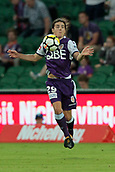 9th January 2018, nib Stadium, Perth, Australia; A League football, Perth Glory versus Melbourne City; Jeremy Walker of the Perth Glory controls the ball in midfield during the first half