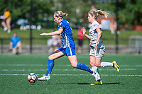 Boston, MA - Saturday June 24, 2017: Natasha Dowie and McCall Zerboni during a regular season National Women's Soccer League (NWSL) match between the Boston Breakers and the North Carolina Courage at Jordan Field.