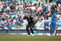 Trent Boult (New Zealand) successfully appeals for the wicket of Rohit Sharma (India) during India vs New Zealand, ICC World Cup Warm-Up Match Cricket at the Kia Oval on 25th May 2019