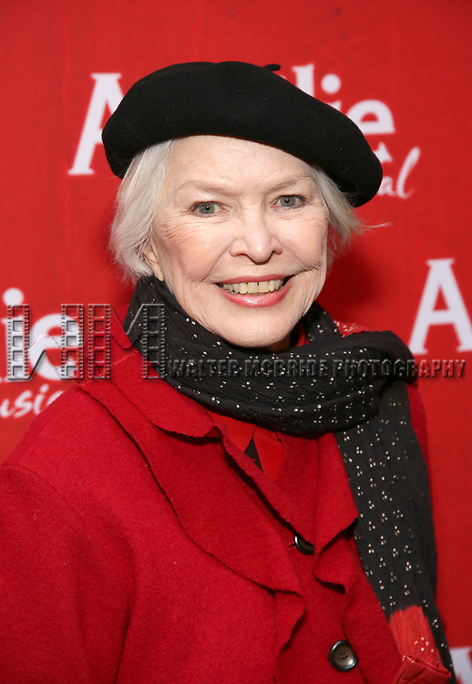 Ellen Burstyn attends the Broadway Opening Night performance of 'Amelie' at the Walter Kerr Theatre on April 3, 2017 in New York City
