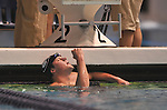24 MAR 2012: Martin Grodzki of the University of Georgia pumps his fist after winning the 1650 yard freestyle race during the Division I Men's Swimming and Diving Championship held at the Weyerhaeuser King County Aquatic Center in Seattle, WA.  Grodzki swam 14:24.08 to win the event and set a new NCAA meet record.  Rod Mar/ NCAA Photos