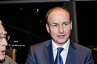 Miche&aacute;l Martin, TD, leader, Fianna Fail, political party, Rep of Ireland, at Belfast launch of Maurice Fitzpatrick&rsquo;s book, John Hume in America: From Derry to DC, at Titanic Belfast 25th January 2018, 201801254797<br /><br />Copyright Image from Victor Patterson, 54 Dorchester Park, <br />Belfast, UK, BT9 6RJ<br /><br />t1: +44 28 9066 1296 (from Rep of Ireland 048 9066 1296)<br />t2: +44 28 9002 2446 (from Rep of Ireland 048 9002 2446)<br />m: +44 7802 353836<br /><br />victorpatterson@me.com<br />www.victorpatterson.com<br /><br />Please see my Terms and Conditions of Use at VICTORPATTERSON.COM. It is IMPORTANT that you familiarise yourself with them.<br /><br />Images used on the Internet must be visibly watermarked i.e. &copy;VICTORPATTERSON.COM within the body of the image and copyright metadata must not be deleted. Images used on the Internet have a size restriction of 4kbs and are chargeable at the then current NUJ rates.<br /><br />This image is only available for the use of the download recipient i.e. television station, newspaper, magazine, book publisher, etc, and must not be passed on to any third party. It is also downloaded on condition that each and every usage is notified within 7 days to victorpatterson@me.com<br /><br />The right of Victor Patterson to be identified as the author is asserted in accordance with The Copyright Designs And Patents Act (1988).