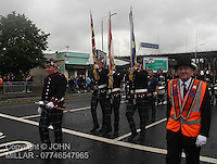 Govan Protestant Boys Flute Band with Govan District returning from the County Grand Orange Lodge of Glasgow Parade 2012 which took place in Glasgow on 7.7.12..