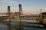 The Steel Bridge in Portland, Oregon