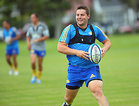 Dane Coles in action during the Hurricanes Super 15 rugby training at Hutt Recreation Ground, Lower Hutt, Wellington, New Zealand on Thursday, 24 January 2013. Photo: Dave Lintott / lintottphoto.co.nz
