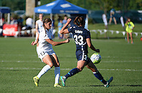 Kansas City, MO - Sunday September 04, 2016: Brittany Taylor, Erin Simon during a regular season National Women's Soccer League (NWSL) match between FC Kansas City and the Sky Blue FC at Swope Soccer Village.
