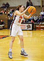 Westside Eagle Observer/RANDY MOLL<br /> Shylee Morrison, Gravette junior guard, moves the ball around the court during play against Ozark on Tuesday, Jan. 28, 2020, at Gravette.