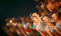 SAO PAULO, SP, 13 JUNHO 2012 - SPFW DESFILE AGUA DE COCO - Modelo durante o desfile da grife Agua de Coco na 33a edicao do Sao Paulo Fashion Week Verao 2013, nesta quarta-feira, 13, na Bienal do Parque do Ibirapuera, na zona sul da capital. FOTO: VANESSA CARVALHO - BRAZIL PHOTO PRESS.