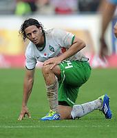 FUSSBALL   1. BUNDESLIGA  SAISON 2011/2012   6. Spieltag 1 FC Nuernberg - SV Werder Bremen         17.09.2011 Claudio Pizarro (SV Werder Bremen)
