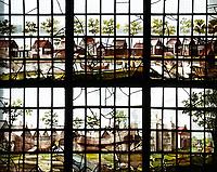 Nederland - Zaandam - 2019.  Historisch Zaandam. Glas-in-lood raam in de Oostzijderkerk. Foto Berlinda van Dam / Hollandse Hoogte