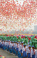 Beijing, China. October 1st, 1984. This huge parade is for the celebration of the 35th Anniversary of the Chinese Revolution. Parade of the minority.