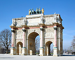Arc de Triomphe located in the Carrousel garden between the Louvre and the Tuileries