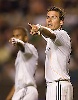 LA Galaxy forward Alan Gordon (21) points the direction during a MLS match. The Chicago Fire defeated the LA Galaxy 1-0 at Home Depot Center stadium in Carson, California on Thursday, August 21, 2008.