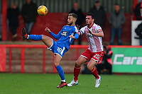 Jorge Grant of Notts County and Ron Henry of Stevenage during Stevenage vs Notts County, Sky Bet EFL League 2 Football at the Lamex Stadium on 11th November 2017