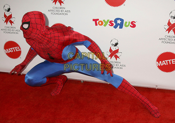 "SPIDERMAN.Dream Halloween ""Under The Big Top"" Benefit for the Children Affected by AIDS Foundation held at Barker Hangar, Santa Monica, California, USA,.27 October 2007..costume party Halloween fancy dress full length.CAP/ADM/RE.©Russ Elliot/AdMedia/Capital Pictures."