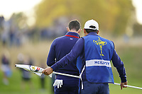 Rory McIlroy (Team Europe) on the 5th during the friday fourballs at the Ryder Cup, Le Golf National, Iles-de-France, France. 27/09/2018.<br /> Picture Fran Caffrey / Golffile.ie<br /> <br /> All photo usage must carry mandatory copyright credit (© Golffile | Fran Caffrey)