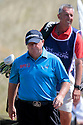 SOUTHPORT, ENGLAND - JULY 26:  Ian Woosnam of Wales and Caddie Phil Morby in action during the second round of The Senior Open Championship played at Royal Birkdale Golf Club on July 26, 2013 in Southport, United Kingdom.  (Photo by Phil Inglis/Getty Images)