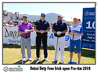 Shane Lowry (IRL) team on the 10th tee during Wednesday's Pro-Am of the 2018 Dubai Duty Free Irish Open, held at Ballyliffin Golf Club, Ireland. 4th July 2018.<br /> Picture: Eoin Clarke | Golffile<br /> <br /> <br /> All photos usage must carry mandatory copyright credit (&copy; Golffile | Eoin Clarke)