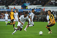 Jordon Garrick of Swansea City in action during the Carabao Cup Second Round match between Swansea City and Cambridge United at the Liberty Stadium in Swansea, Wales, UK. Wednesday 28, August 2019.