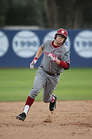 James Rudkin (10) of the Washington State Cougars runs the bases during a game against the Loyola Marymount Lions at Page Stadium on February 26, 2017 in Los Angeles, California. Loyola defeated Washington State, 7-4. (Larry Goren/Four Seam Images)