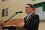 Past Pupil Mayor Kevin Callan speaks at the School Awards Ceremony in St.Mary's School...(Photo credit should read Jenny Matthews www.newsfile.ie)....This Picture has been sent you under the conditions enclosed by:.Newsfile Ltd..The Studio,.Millmount Abbey,.Drogheda,.Co Meath..Ireland..Tel: +353(0)41-9871240.Fax: +353(0)41-9871260.GSM: +353(0)86-2500958.email: pictures@newsfile.ie.www.newsfile.ie.