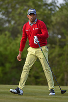 Anirban Lahiri (IND) watches his tee shot on 15 during Round 1 of the Valero Texas Open, AT&amp;T Oaks Course, TPC San Antonio, San Antonio, Texas, USA. 4/19/2018.<br /> Picture: Golffile | Ken Murray<br /> <br /> <br /> All photo usage must carry mandatory copyright credit (&copy; Golffile | Ken Murray)