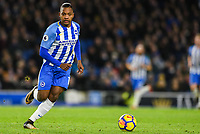 Jose Izquierdo of Brighton & Hove Albion (19) In action  during the EPL - Premier League match between Brighton and Hove Albion and Burnley at the American Express Community Stadium, Brighton and Hove, England on 16 December 2017. Photo by Edward Thomas / PRiME Media Images.