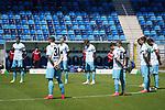 Schweigeminute für die Corona-Opfer beim Spiel in der 3. Liga, SV Waldhof Mannheim - KFC Uerdingen 05.<br /> <br /> Foto © PIX-Sportfotos *** Foto ist honorarpflichtig! *** Auf Anfrage in hoeherer Qualitaet/Aufloesung. Belegexemplar erbeten. Veroeffentlichung ausschliesslich fuer journalistisch-publizistische Zwecke. For editorial use only. DFL regulations prohibit any use of photographs as image sequences and/or quasi-video.
