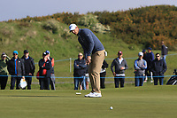 Richards Colsaerts (BEL) on the 4th green during Round 3 of the Betfred British Masters 2019 at Hillside Golf Club, Southport, Lancashire, England. 11/05/19<br /> <br /> Picture: Thos Caffrey / Golffile<br /> <br /> All photos usage must carry mandatory copyright credit (&copy; Golffile | Thos Caffrey)