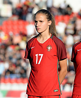 20171024 - PENAFIEL , PORTUGAL : Portugese Vanessa Marques pictured during a women's soccer game between Portugal and the Belgian Red Flames , on tuesday 24 October 2017 at Estádio Municipal 25 de Abril in Penafiel. This is the third game for the  Red Flames during the Worldcup 2019 France qualification in group 6. PHOTO SPORTPIX.BE | DAVID CATRY